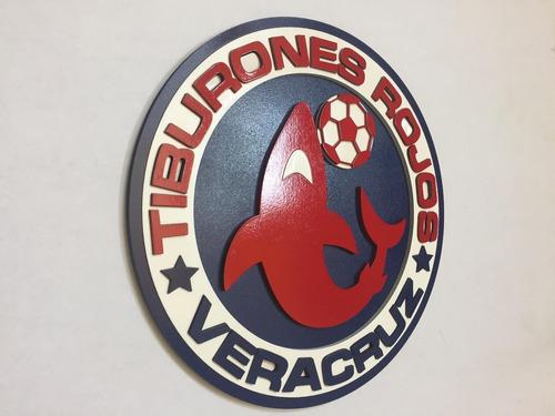 Tiburones Rojos De Veracruz, Logo En Madera Mdf