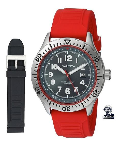 Reloj Nautica Nsr 105 Nad14004g Dos Correas Original En Caja