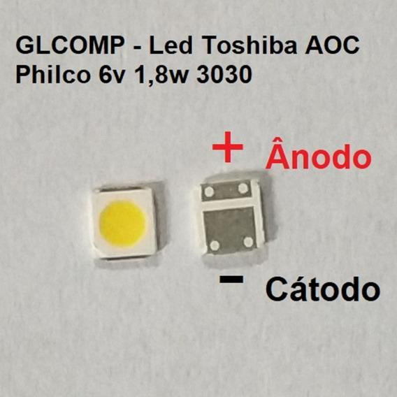 Led Smd Tv Sti Toshiba Aoc Philco 3030 6v 1,8w 200 Pçs Carta