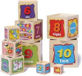 Torre Cubos Encaje Madera Juguete Educativo Para Niños