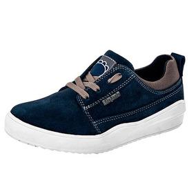 Tenis Sneaker Casual Dama Azul Elefante Piel Udt U89857