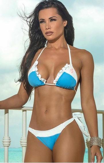 Biquíni Feminino Lycra Liso Moda Praia Verão Hipkini
