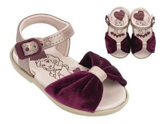 Sandália Infantil Feminina Disney Princesas Baby