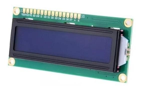 Display Lcd 16x2 1602 Backlight Azul Escrita Branca 50 Pecas