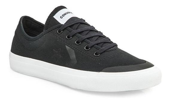Zapatillas Converse Modelo Stoke Ox Negro Blanco Lona