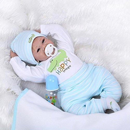 Yesteria Real Vida Silicona Reborn Baby Dolls Niño Mirar