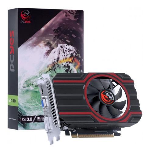 Imagem 1 de 1 de Placa De Video Gdd5  Nvidia Geforce Gt 740 4gb 128bit Single