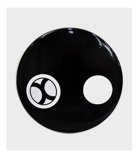 Parche 22 Pulg Resonante Negro Con Orificio Extreme Expc047