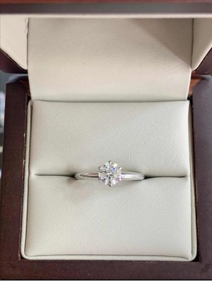 Anillo De Compromiso Diamante Certificado Gia .72ct H I2