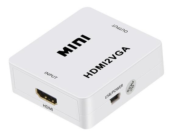 Conversor Adaptador Hdmi A Vga Con Audio Tv Box Monitor