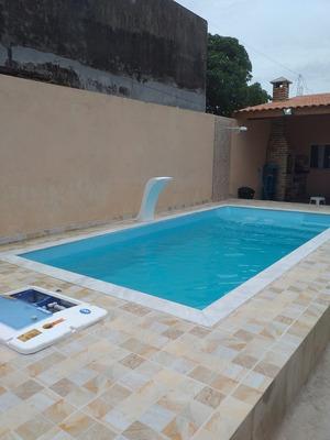 Casa Com Piscina E Churraqueira A 200m Da Praia