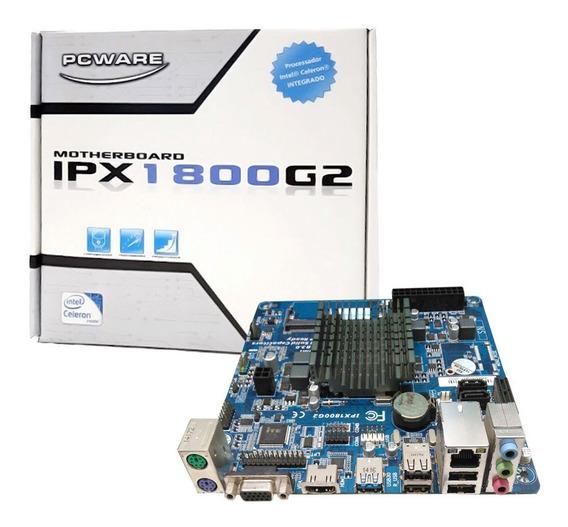 Placa Mãe Integrada Itx J1800 Dual-core 2.41 Ddr3 Ipx1800g2