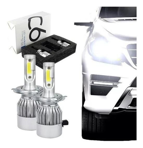 Kit Lampada Led Automotiva H3 6000k Super Branca Tipo Xenon