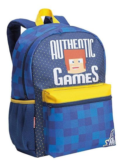 Mochila Authentic Games De Costas G Original Sestini