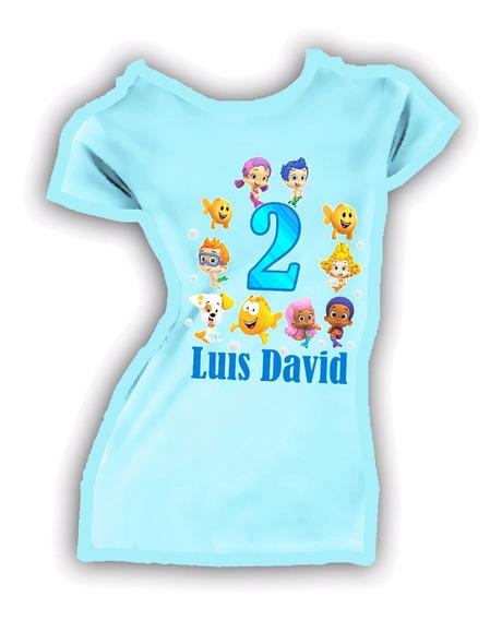 Playera O Camiseta Bubble Gupies Colores Personalizada Unisx