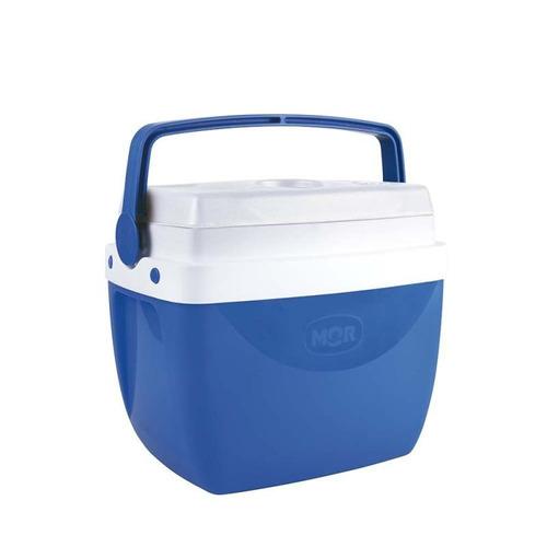Imagem 1 de 5 de Caixa Térmica Cooler 12 Litros Azul Com Alça Mor