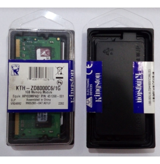 Memória Ddr2 800 1 Gb P/ Notebook - Kingston - Frete Grátis
