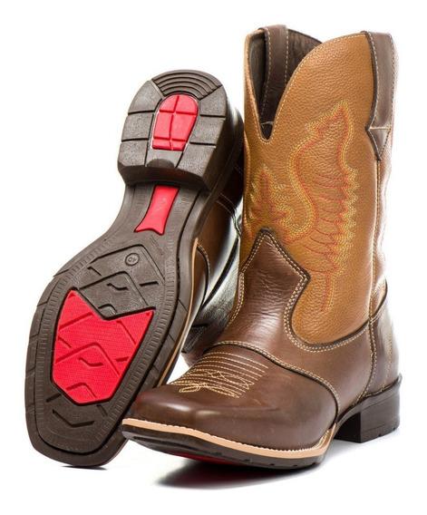 Bota Country Texana Masculina Leve Costurada + Palmilha Boot