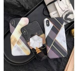 Forro Protector Marmol Moda iPhone 7 7 Plus 8 8 Plus 10 X