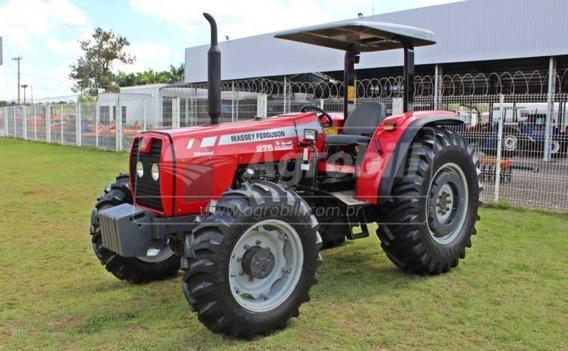 Trator Massey 275 4×4 2009 Advanced, Tração Central C/ 2722h