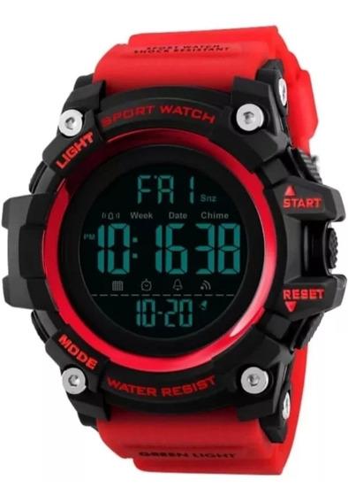 Kit Relógios Masculino Militar Skmei 1384 Prova D,água Led
