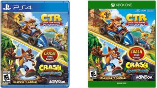 Crash Game Bundle Ps4 4 Juegos Ctr + Trilogy Nuevo Sellado