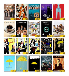 Kit 10 Poster Placas Mdf How I Met Your Mother 1 Decorativo
