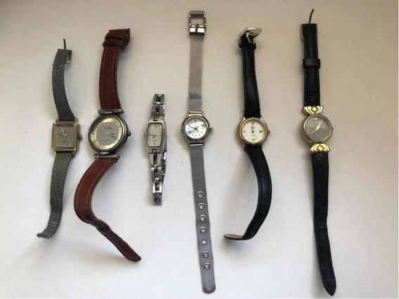 Kit C/ 6 Relógios Antigos P/ Restauração - Leia O Anúncio