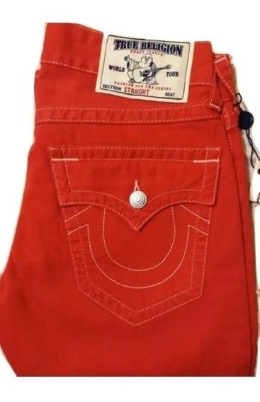 True Religion Jeans Red Para Caballero 30x33. Revival, Seven