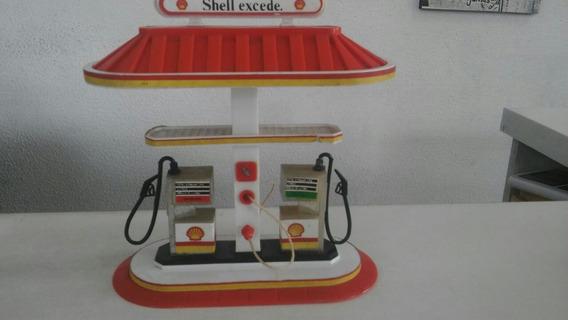 Posto De Combustível Shell Excede Brinquedo Antigo Raro
