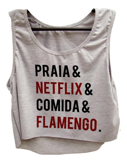 Blusa Cropped Flamengo Feminina Camiseta Regata Rio Cod02