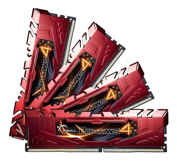Memoria Ram 16gb G.skill Ripjaws 4 Series (4 X 4gb) 288-pin Ddr4 Sdram 3000mhz (pc4 24000) (f4-3000c15q-16grr)