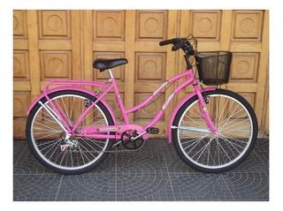 Bicicleta Playera Rodado 26 Con 6 Velocidades