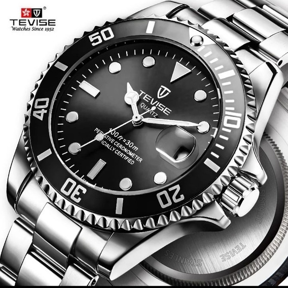 Relógio Masculino Original Tevise T801 Promoção Quartzo C.24