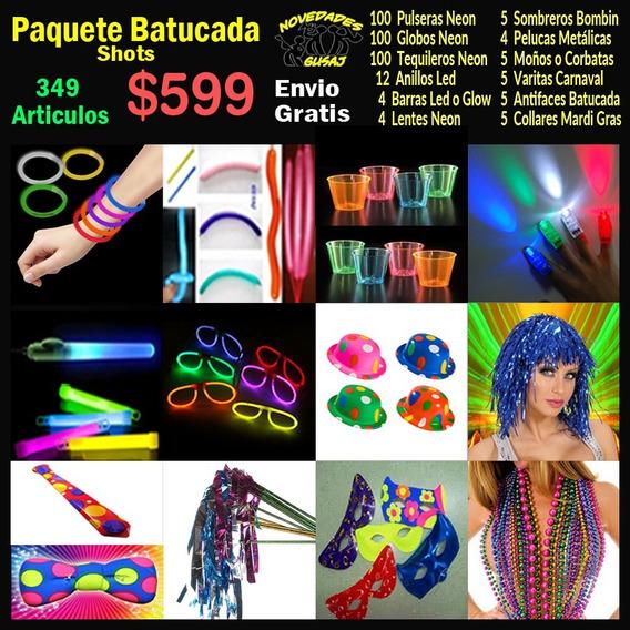 Paquete Batucada Shots $599 Boda Fiesta Neon Xv Envio Gratis