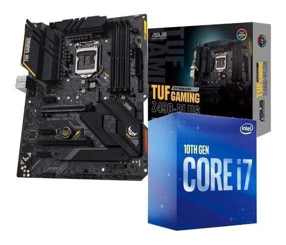 Kit Processador Intel Core I7 10700 Tuf Z490-plus Gaming