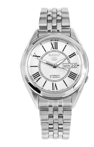 Reloj Seiko Snkl29k1 Automático Plateado Para Caballero