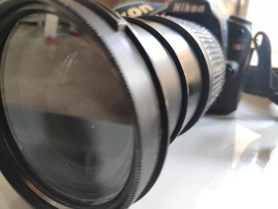 Câmera Nikon D90+bateria+alça+lente 18-140+filtrouvprotector