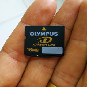 Cartão De Memória Olympus Xd 16 Mb Usado