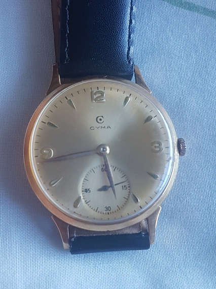 Relogio Cyma Ouro 18 K Vintage Oversize