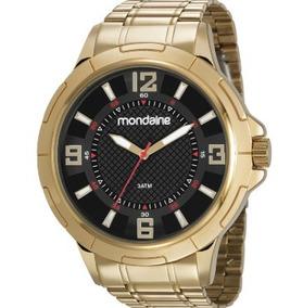 Relógio Pulso Mondaine Masculino Dourado Original Grande