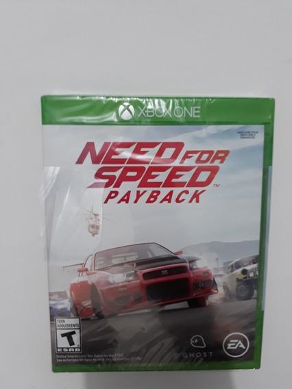 Need For Speed Payback Xbox One Jogo Mídia Física Lacrado