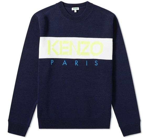 Suéter Kenzo Paris Logo Crew Knit Original Gucci Fendi