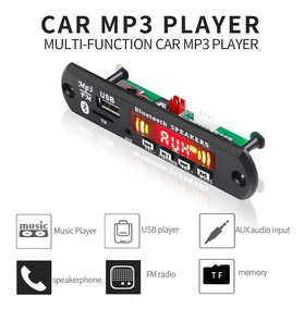 Placa Mp3 Usb, Fm, Leitor, Aux E Bluetooth Kit Com 12 Placas