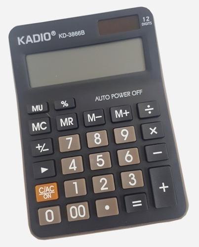 Calculadora Kadio Kd-3866b 12 Dígitos Envío Rápido