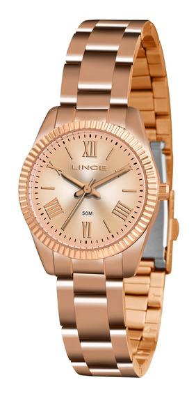 Relógio Lince Feminino Lrr4492l R3rx Dourado Rosê - Refinado