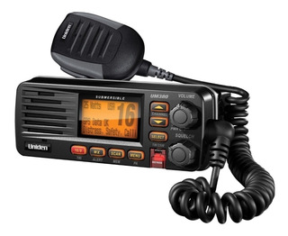 Radio Vhf Marino De Base Uniden Solara Dsx Um380b Negro