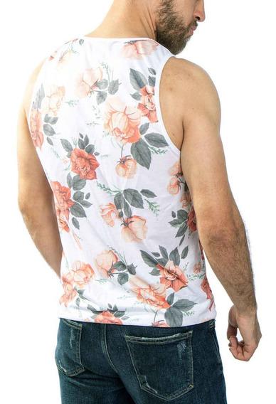 Regata Floral Flores Rosas , Off White Estilo Swag Streetwear