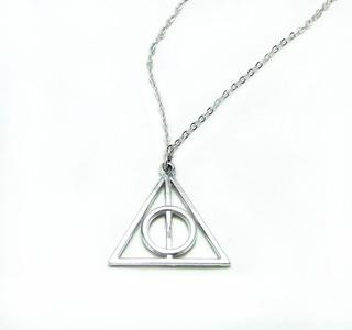 Collar Reliquias De La Muerte Harry Potter Color Plata