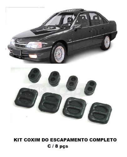 Borracha / Coxim Escapamento Omega / Suprema Kit C/ 8 Pç